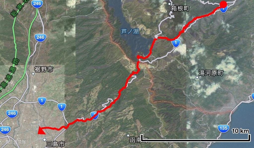 東京〜大阪(太陽の塔)東海道16日間徒歩の旅 4日目 箱根湯本〜三島