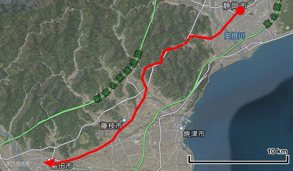 旅音 東京〜大阪(太陽の塔)東海道16日間徒歩の旅 7日目 静岡〜島田