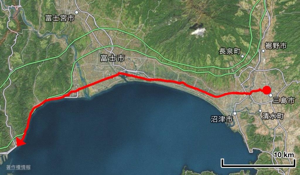 東京〜大阪(太陽の塔)東海道16日間徒歩の旅 5日目 三島〜興津